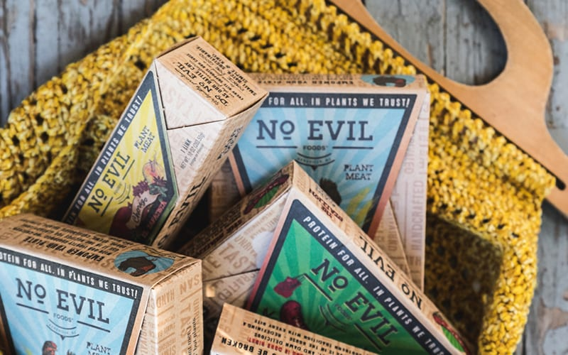 No Evil Foods commits to sustainable packaging.