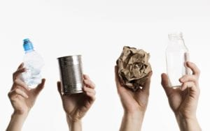 What do recycled items turn into
